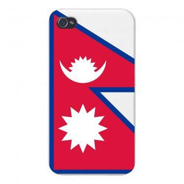 Nepal World Country National Flag - FITS iPhone 5 5s Plastic Snap On Case