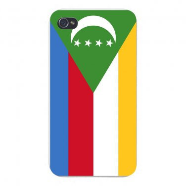 Comoros World Country National Flag - FITS iPhone 5 5s Plastic Snap On Case