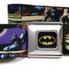 DC Comics Batman Seatbelt Belt - Dark Knight Poses Batman Shield