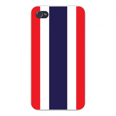 Thailand World Country National Flag - FITS iPhone 4 4s Plastic Snap On Case