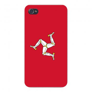 Isle of Man World Country National Flag - FITS iPhone 4 4s Plastic Snap On Case