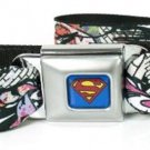 DC Comics Superman Seatbelt Belt - Superman Color Flying Brick Scene