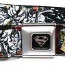 DC Comics Superman Seatbelt Belt - Superman Flying Scene w/ Graffiti