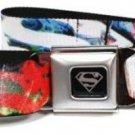 DC Comics Superman Seatbelt Belt - Superman Logos Weathered