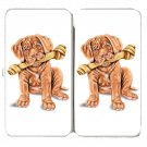 Cute French Mastiff Pet Puppy Dog w/ Bone - Womens Taiga Hinge Wallet Clutch