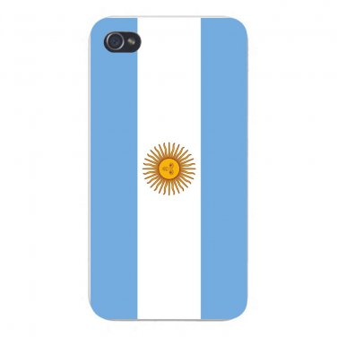 Argentina World Country National Flag - FITS iPhone 4 4s Plastic Snap On Case