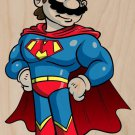 Plumbers League of America Cape Hero Parody - Plywood Wood Print Poster Wall Art