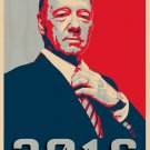 Frank Underwood Hope TV Show 2016 Parody - Plywood Wood Print Poster Wall Art