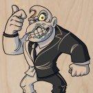Disfigured Face Game & Super Hero Parody - Plywood Wood Print Poster Wall Art