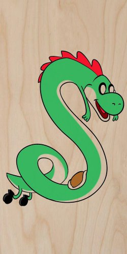 Plumbing Time Snake Creature Game TV Parody - Plywood Wood Print Poster Wall Art