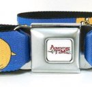 Adventure Time Jake & Finn Flying At Night Seat Belt Buckle Belt