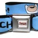 Adventure Time Seatbelt Belt - Finn Face - PUNCHA YO BUNS! Blue