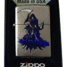 Zippo Custom Lighter - Skull Grim Reaper of Death w/ Sythe Chrome Arch