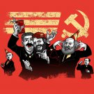 Communist Party Funny Pun Famous Communist Leaders Partying - Vinyl Sticker