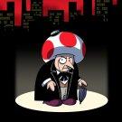 Short Fat Mobster Villain Video Game & Bat Super Hero Parody - Vinyl Sticker