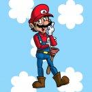 Plumbing Story Western Cowboy Hero Game & Cartoon Movie Parody - Vinyl Sticker