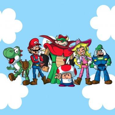 Plumbing Story Group Funny Video Game & Cartoon Movie Parody - Vinyl Sticker