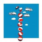 """Sky Circus"" Funny Kitty Cat w/ Umbrella Balancing on Balls - Vinyl Print Poster"