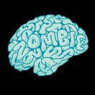 """""""Zombie Need Brain"""" Funny Cartoon Hungry For Brains - Vinyl Print Poster"""