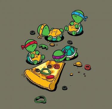 """Pizza Lover"" TV Show Cartoon Movie Parody w/ Turtles Eating - Vinyl Sticker"