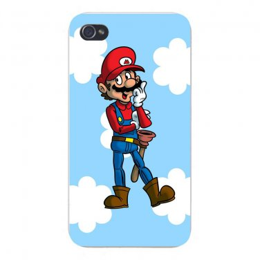 Plumbing Story Western Cowboy Parody - FITS iPhone 4 4s Plastic Snap On Case