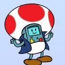 Plumbing Time Mushroom Robot Video Game & TV Show Parody - Vinyl Print Poster