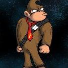 Plumbing Wars Hairy Bear Animal Game & Space Movie Parody - Vinyl Print Poster