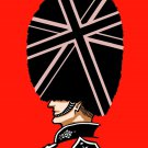 London Man Queen's Guard Red & Black British Uniform - Vinyl Print Poster
