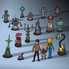 My Robot Family Funny British TV Show Parody - Vinyl Sticker