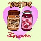 PBJ Forever Funny Peanut Butter & Jelly Romantic Love Humor - Vinyl Sticker
