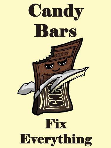Candy Bars Fix Everything Food Humor Cartoon - Vinyl Print Poster