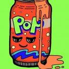 Soda Fixes Everything Food Humor Cartoon - Plywood Wood Print Poster Wall Art