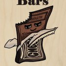 Candy Bars Fix Everything Food Humor - Plywood Wood Print Poster Wall Art
