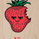 Strawberries Fix Everything Food Humor - Plywood Wood Print Poster Wall Art