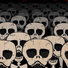 Dead Suits Skeleton March Mass of Skulls - Plywood Wood Print Poster Wall Art