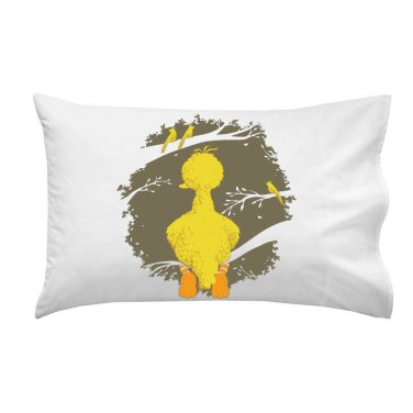 """The Big One"" Public Television Show Parody Yellow Perched - Single Pillow Case"