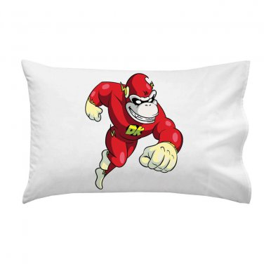 Plumbers League of America Fast Hero Video Game Parody - Single Pillow Case