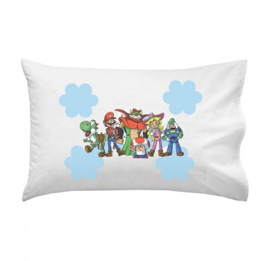 Plumbing Story Group Funny Video Game & Movie Parody - Single Pillow Case