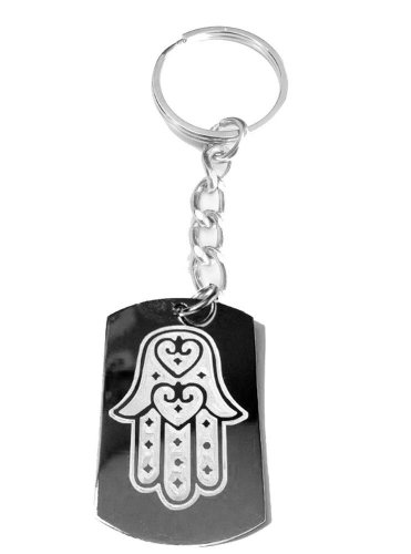 Hand of Mary Mother Jesus Christian Religion - Metal Ring Key Chain Keychain
