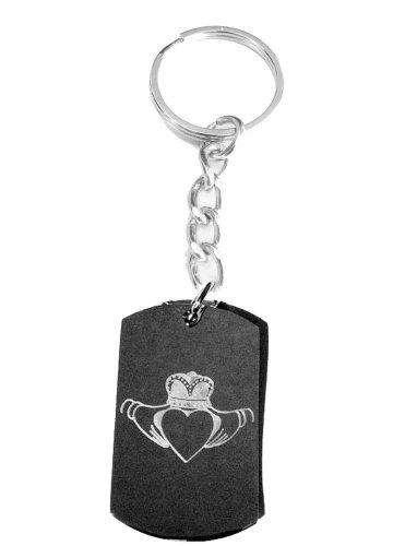 Irish Claddah Ring Ireland Love Open Heart Logo - Metal Ring Key Chain Keychain