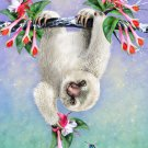Cute Baby Sloth Hanging From Tree - Rectangle Refrigerator Magnet