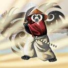 """Panda Warrior"" Bear Ninja w/ Sword & Hat - Vinyl Sticker"