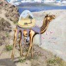 """Mystical Camel"" Roaming Sahara Desert Egyptian Pyramids - Vinyl Sticker"