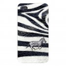 Zebra Skin Pattern Design Running Animal - FITS iPhone 5 5s Plastic Snap On Case