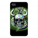 Metallic Dragon w/ Skull & Horns - FITS iPhone 5 5s Plastic Snap On Case