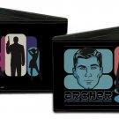 Archer Bi-Fold Wallet - Archer w/ Gun & Sexy Women Silhouettes w/ Head Logo