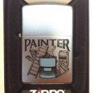 Zippo Custom Lighter - Painter Job Satin Chrome