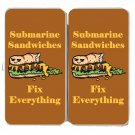 Submarine Sandwiches Fix Everything Food - Womens Taiga Hinge Wallet Clutch