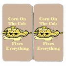 Corn on the Cob Fixes Everything Food Humor - Womens Taiga Hinge Wallet Clutch