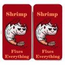 Shrimp Fixes Everything Food Humor Cartoon - Womens Taiga Hinge Wallet Clutch